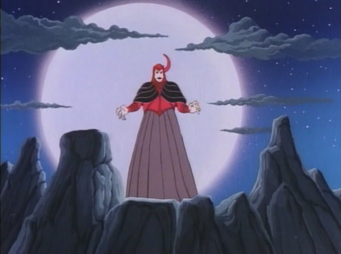 Venger in front of the moon