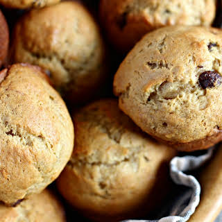 Peanut Butter Banana Chocolate Chip Muffins.