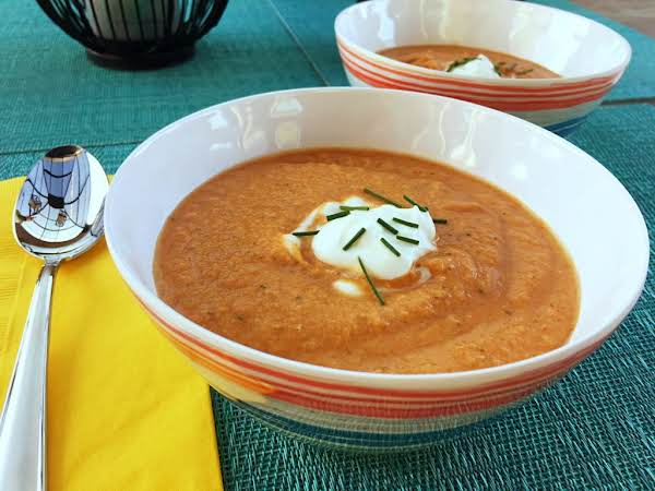 Chilled Roasted Pepper Soup Recipe