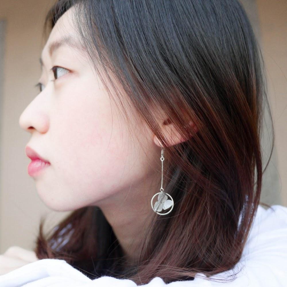 [現貨/stock] 尖沙咀寄賣中 垂吊款 925純銀繡球花耳環 925 Sterling Silver Hydrangea Earrings