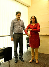 Photo: Ritika demonstrating Disability Etiquette when assisting a blind person at L'Oreal, Powai