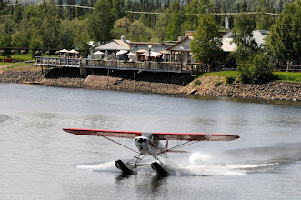 Photo: Float plane on Chena River in front of Pump House restaurant, Fairbanks