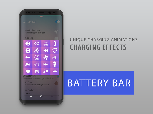 Battery Bar : Energy Bars on Status bar (Unreleased) app for Android screenshot