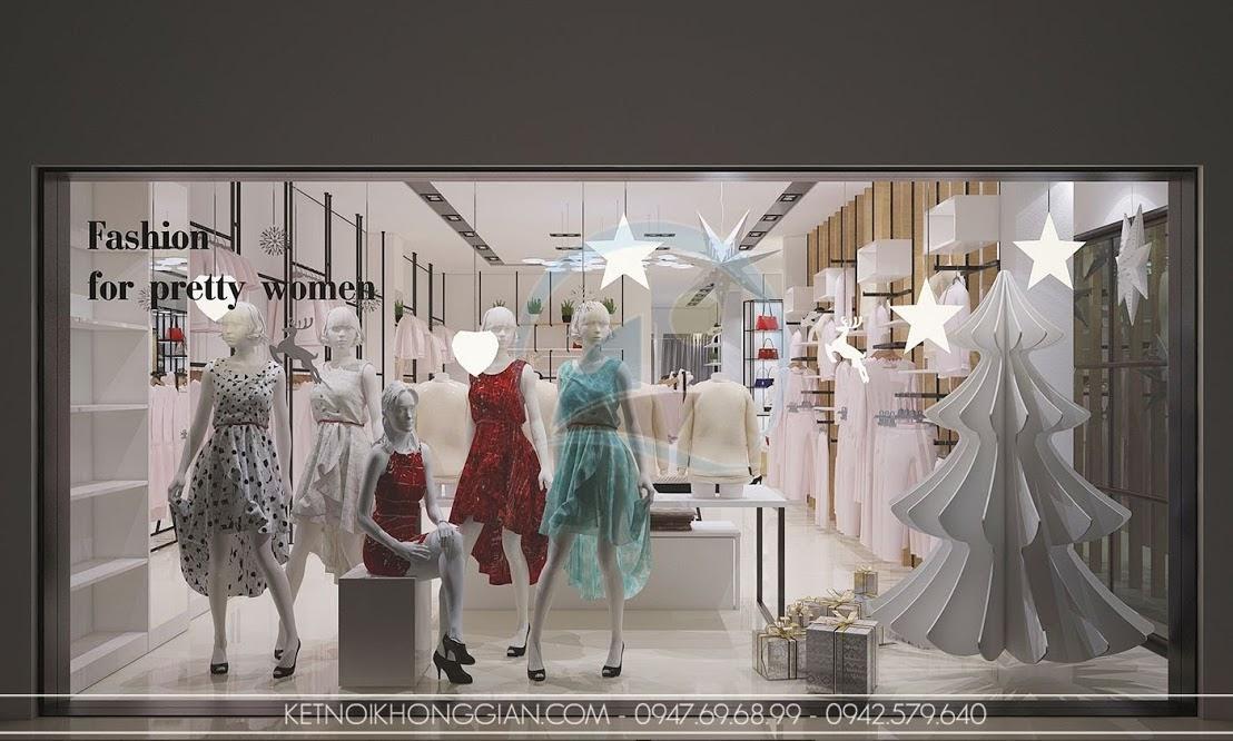 thiết kế shop thời trang nữ tính, đẳng cấp