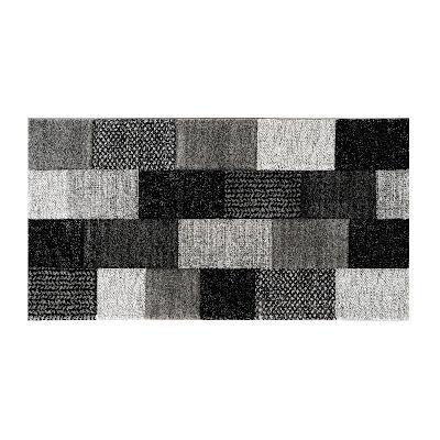 Коврик для ванной серый черный Abc ray 150x80