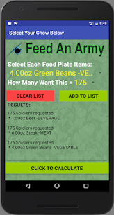 Feed An Army Food Planner- screenshot thumbnail