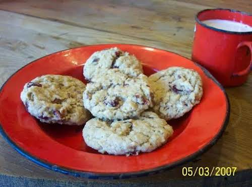 "Berry Nutty Oatmeal Cookies ""This chewy oatmeal cookie, filled with sweet dried..."