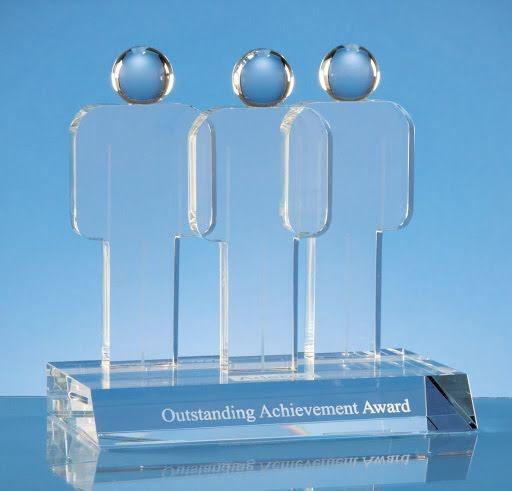 17.5 cm Incentive Teamwork Optical Crystal Award
