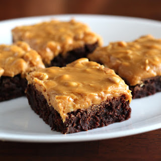 Brownies with Dulce De Leche-Salted Peanut Frosting Recipe