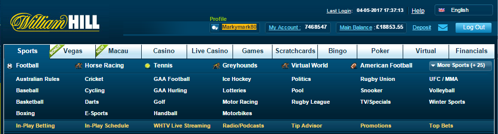 William Hill Account