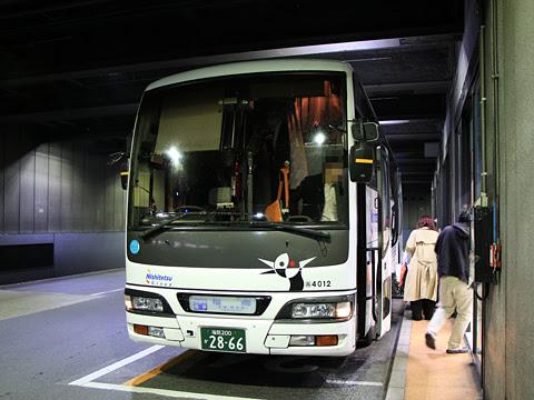 西鉄高速バス「桜島号」夜行便 4012 博多バスターミナル到着 その1