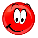 Red ball bouncing world icon