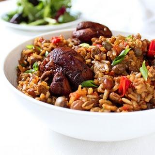 Trinidadian Chicken Pelau.