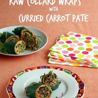 Collard Wraps with Raw Curried Carrot Pâté