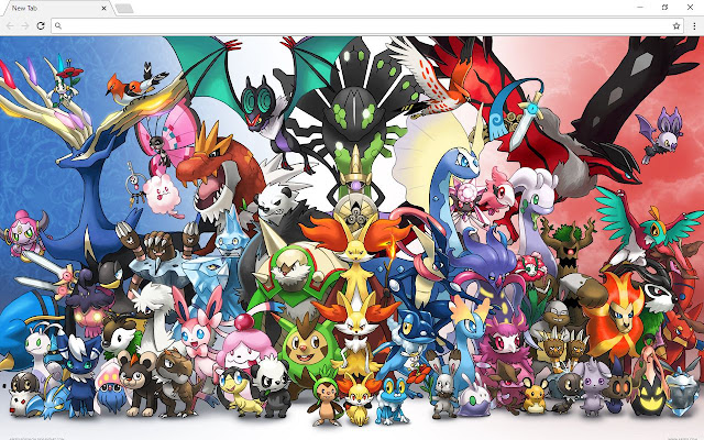 Pokemon Sun And Moon New Tab Page