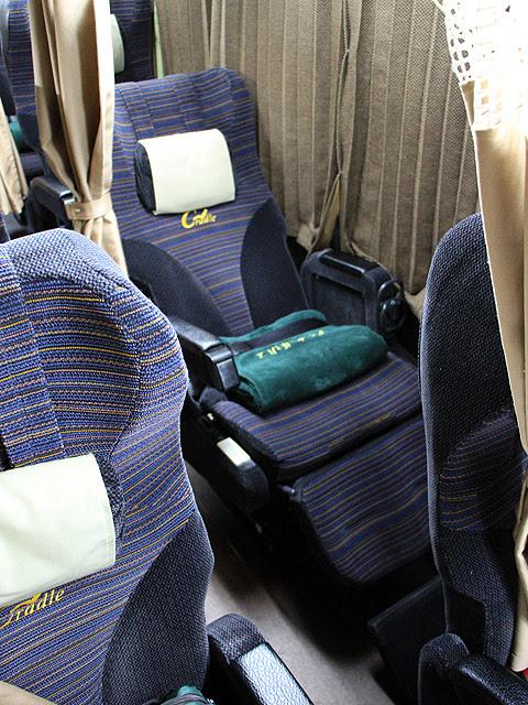 西日本JRバス「百万石ドリーム広島号」 シート