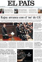 """Photo: Hoy en nuestra portada, """"Rajoy arranca con el 'no' de CiU"""", """"China y el Ejército norcoreano arropan al hijo de Kim Jong-il"""" y """"Los catalanes pagarán un euro en 2012 por cada receta médica"""". http://www.elpais.com/static/misc/portada20111221.pdf"""