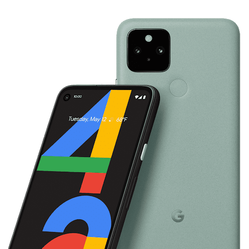 A front-facing Pixel leans against the back of another Pixel.