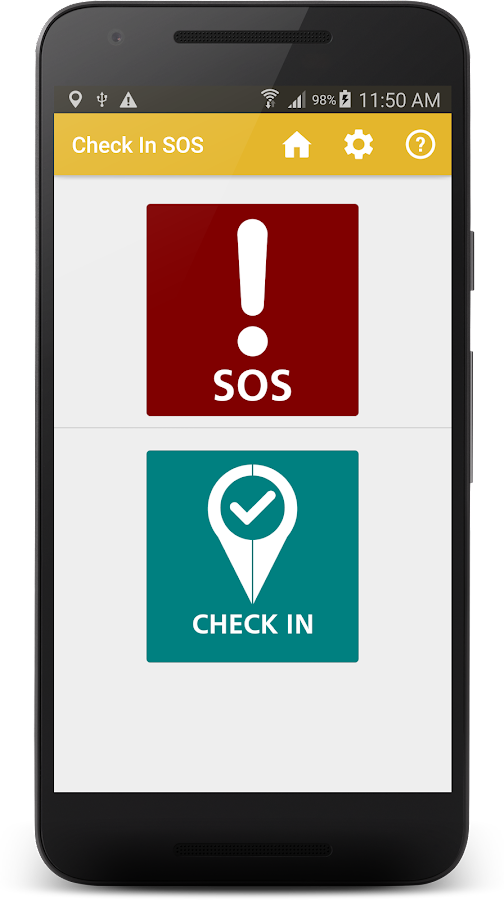 Check-in SOS- screenshot