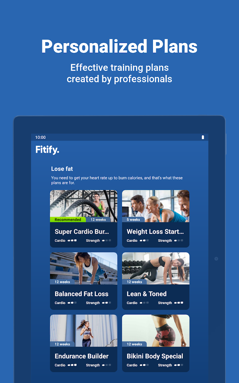 Fitify: Training, Workout Plan & Results App Screenshot 13