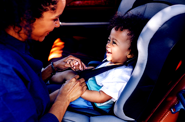 Toddler seats are bulkier and provide ample leg space as your child grows.