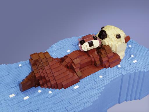 A vida selvagem retratada em esculturas de LEGO