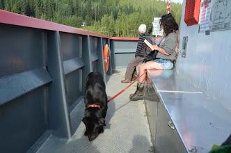 Photo: Dawson City: ohne Hund geht nix  (aber die junge Dame ist auch nicht schlecht (Foto von Thorsten)