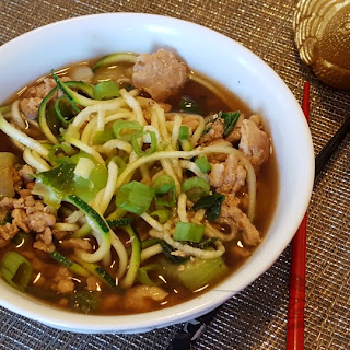 Spicy Pork and Zoodle Bowl Recipe