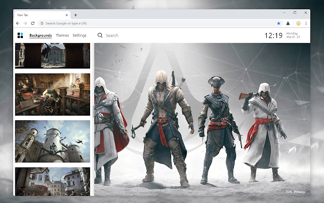 Assassin's Creed HD Wallpapers New tab