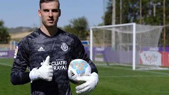 Lunin pertenece al Real Madrid y está cedido en el Valladolid.