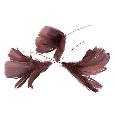 Fjädrar Blom Mörkrosa 12-pack
