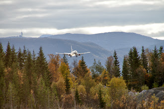 Photo: Unser Flieger holt uns ab in Evenes