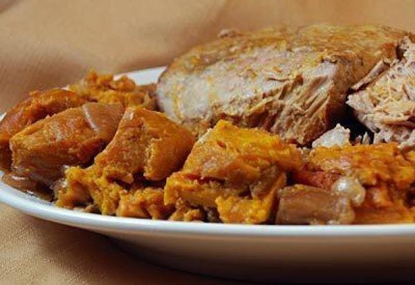 Garlic Pork Roast And Sweet Potatoes In The Crockp Recipe