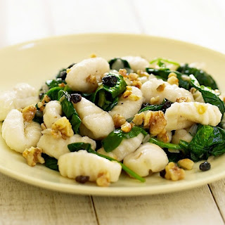 Gnocchi with Spinach and Walnuts.