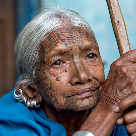 The Old Lady by Sujay Sil - People Portraits of Women ( #oldlady #portrait #urbanbeauty #tribes #tribalbeauty,  )