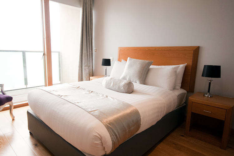 Luxury bedroom at IFSC Apartments - Key Collections