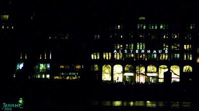 Photo: nachts in Hamburg an der Alster