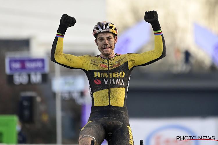 """Wout van Aert blij met overwinning in Overijse: """"Fijn om eens konijn te zijn in plaats van jager"""""""