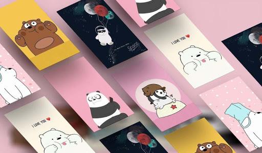 Cute Bear Cartoon Wallpaper screenshot 1
