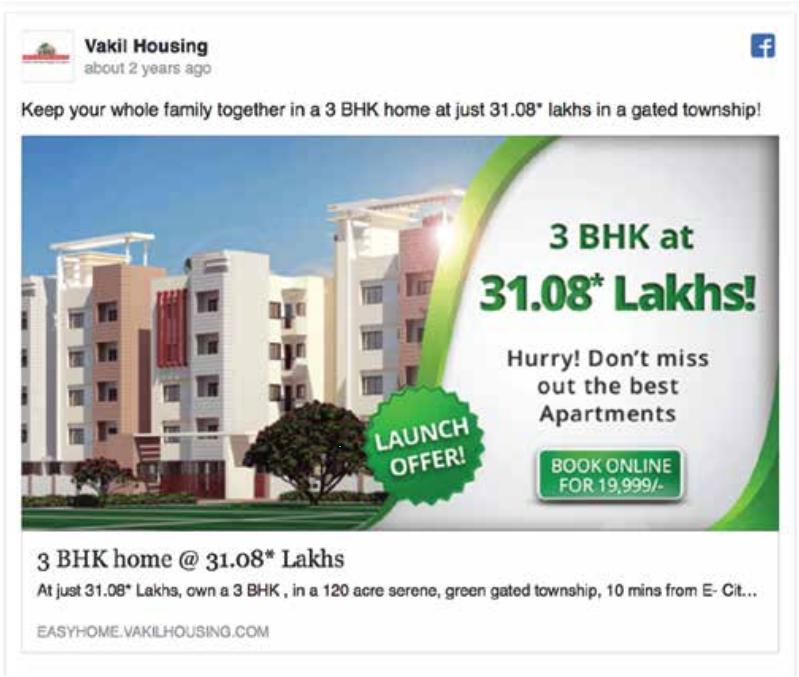 exemple publicité Facebook immobilier 2