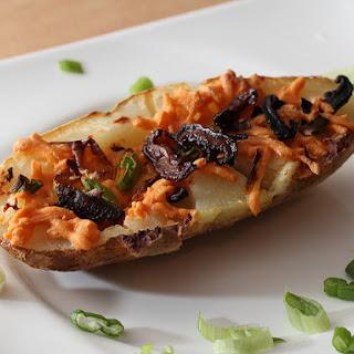 Vegan Stuffed Cheesy Bacon Potato Skins