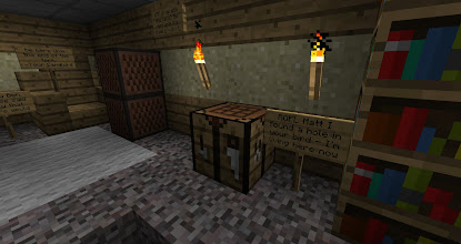 Photo: Matt had made a little living space underneath Creditor.  Ben griefed it.