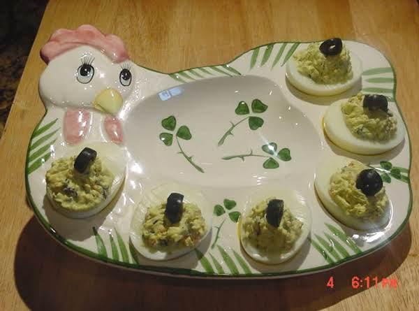 Bonnie's Deviled Eggs With A Cajun Kick!