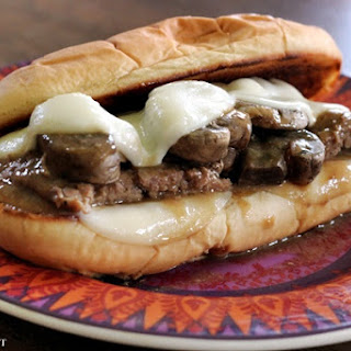 Cube Steak Hoagies with Brown Gravy, Mushrooms and Onions