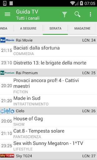TV Guide Italy FREE screenshot 4