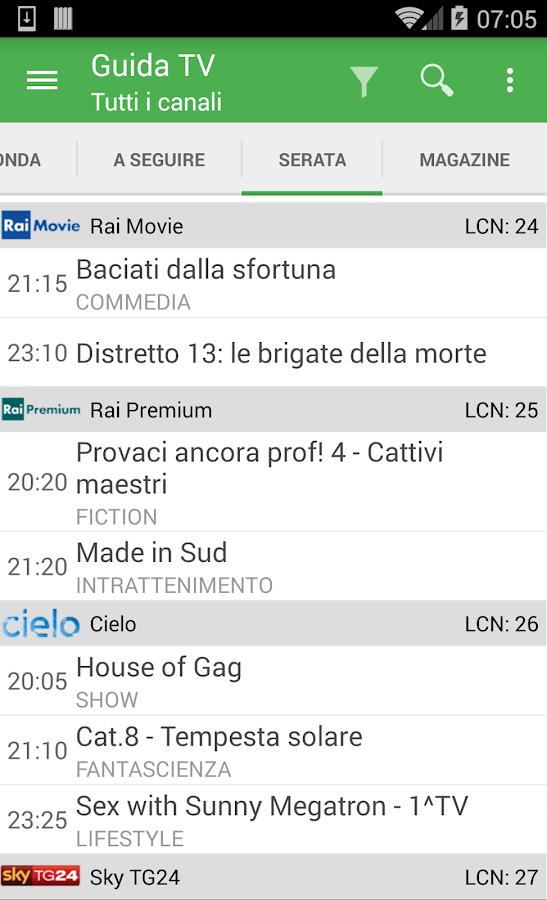 TV Guide Italy FREE- screenshot
