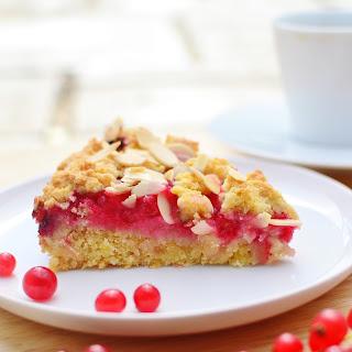 Almond Redcurrant Cake.