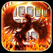 ثيم لوحة المفاتيح Flaming Fire Phoenix APK