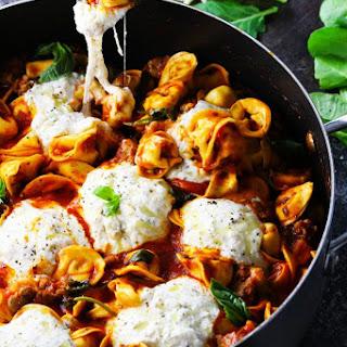 20-Minute Tortellini Skillet Lasagna.