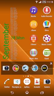 Xperia Calendar Widget - náhled